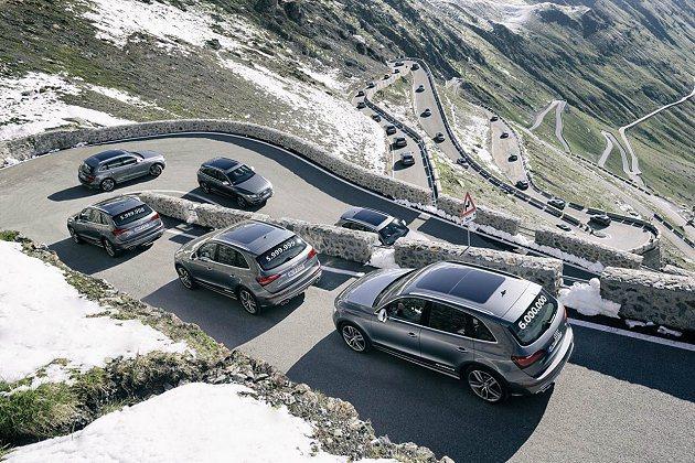 2013年2月,第500萬輛Audi quattro車型下線。 Audi提供