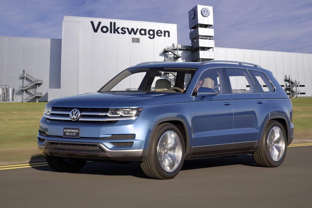 全新七人座SUV將以CrossBlue概念車為基礎打造 Volkswagen提供