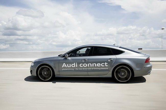 Audi首度將自動駕駛系統裝載於旗下A7 Sportback作為測試原型車,並成...