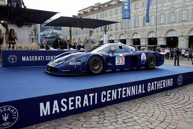 在都靈市中心腹地聖卡羅廣場舉行的古董車展成為本次慶典的尾聲。 Maserati提...