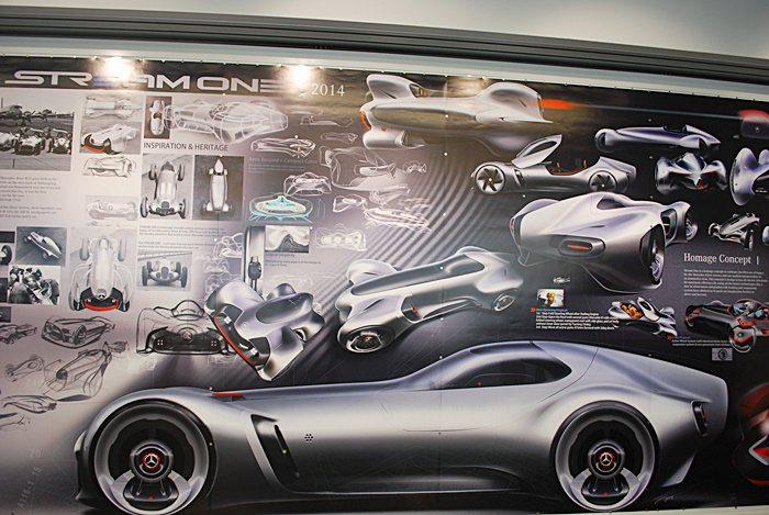 展示Stream One設計元素看板。 記者趙惠群/攝影