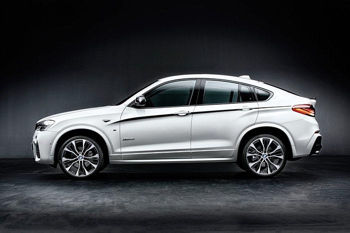 M Performance提供X4高質感且輕量化的鍜造鋁圈,有助於減少車輛震動,...