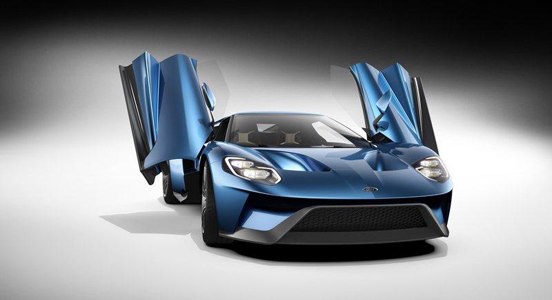 Ford GT車門採上掀式設計。 Ford提供