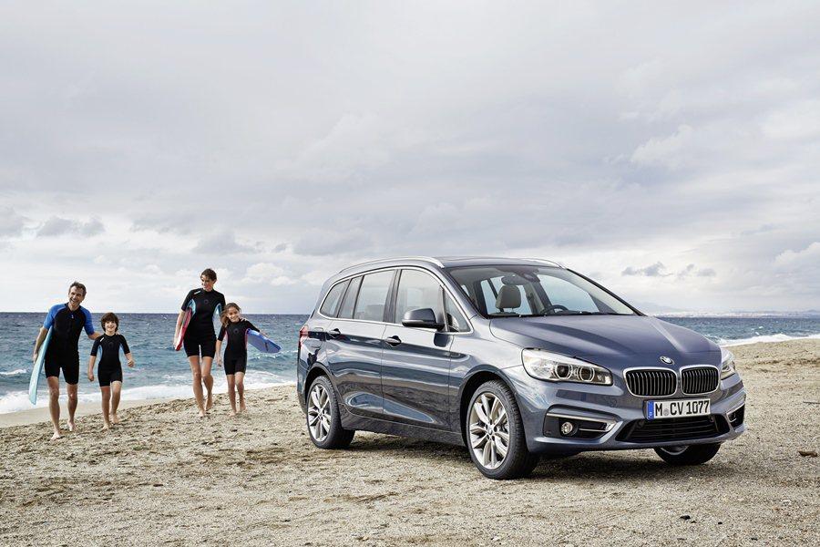 BMW鎖定年輕小家庭買家,推出車型加長的七人座轎式休旅車2 Series Gra...