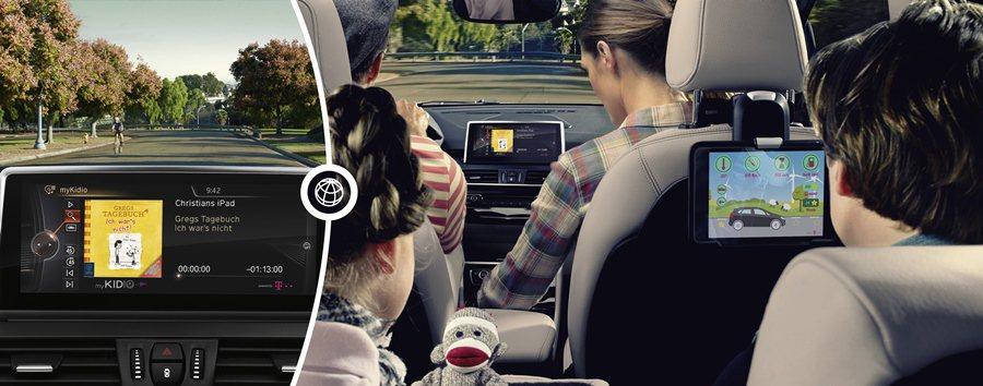 前座中控台面板有Control Display顯示功能,能顯示影音內容,並方便前...