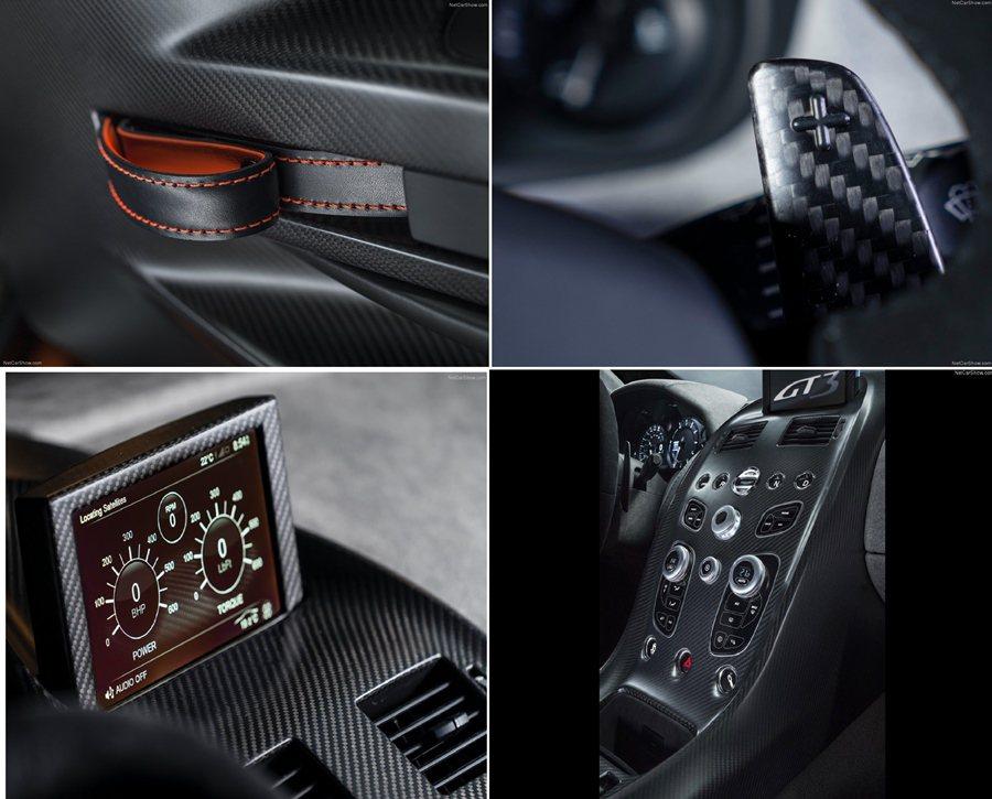 至於車子內裝也經過徹底改造,大量採用碳維材質。  Aston Martin...