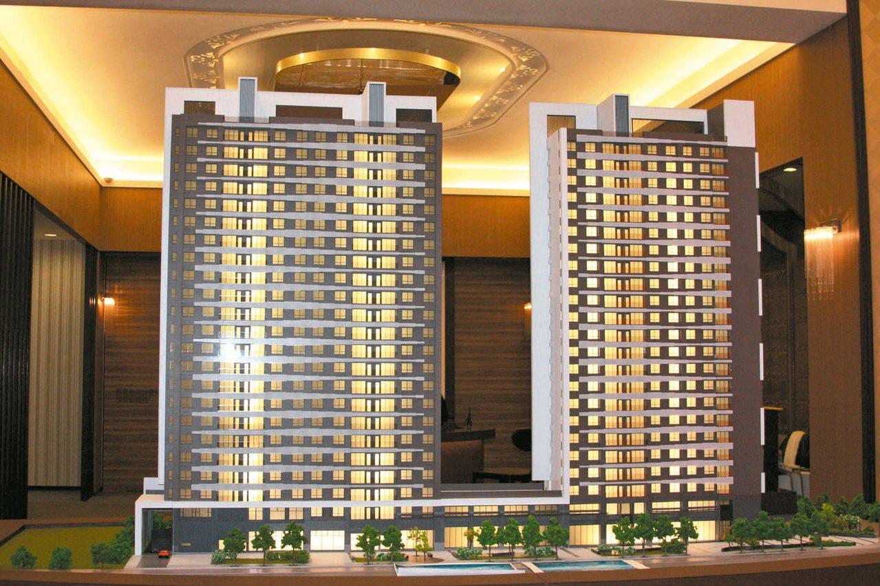 冠奕深耕十期新大樓建案,標榜第一座碳足跡認證建築。 記者曾增勳/攝影