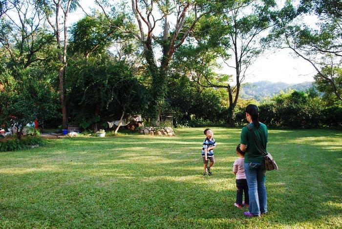 東山農園內幽靜的庭院。 記者趙惠群/攝影