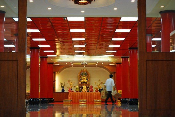 藥師佛禪寺一景。 記者趙惠群/攝影