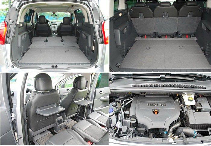 5008後座空間多變化,可滿足不同休閒旅行置物需求,配備的2.0升HDi柴油引擎...