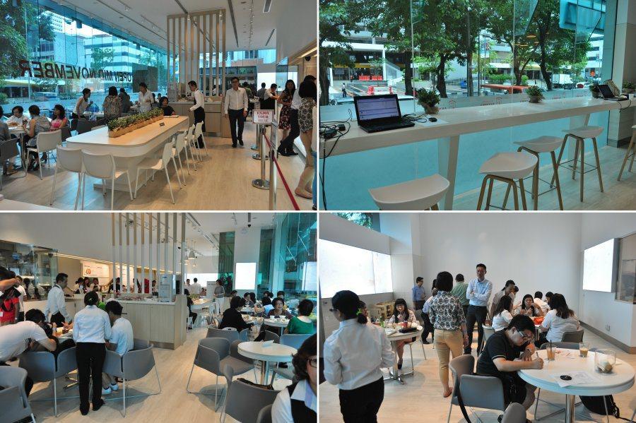 複合式用餐空間,規劃許多座位,可以跟朋友很悠閒開心享用Asanoya職人手藝。 記者許信文/攝影