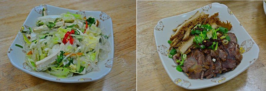 北方麵食館的精緻滷味小菜,洋菜拌豆腐泡菜,超可口,滷牛雜和豆干等小菜也很入味。...