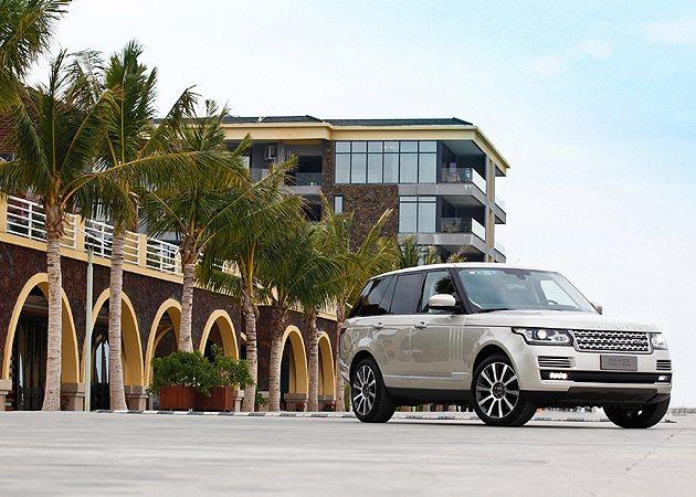 Range Rover在三亞市的試駕。 蔡志宇