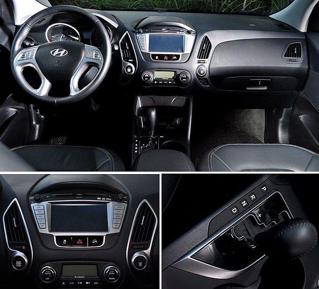 內裝與汽油版無差異,相當容易上手的操作介面。 蔡志宇