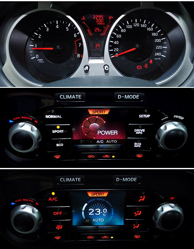 儀表也朝年輕化設計,並且冷氣與駕駛模式的切換整合一起,是相當有創意。 蔡志宇