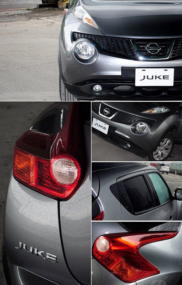 外觀許多設計是相當忠實於Nissan Qazana概念車,後車門的把手也跟370...