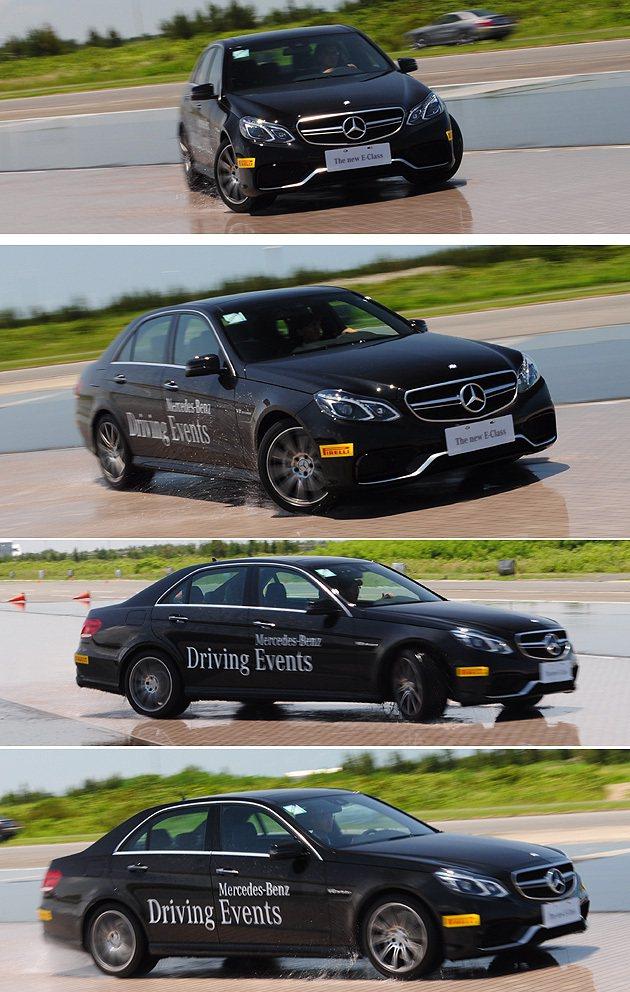 E63 AMG也是腳上功夫要控制好的猛獸,不過車尾擺盪起來可是相當巧妙。 蔡志宇