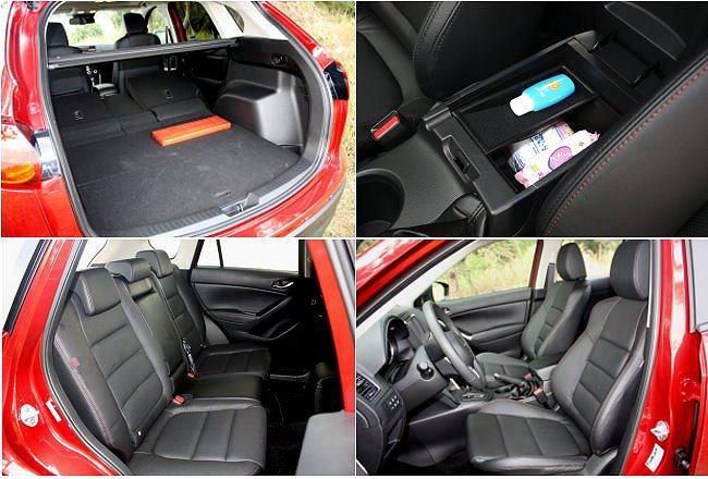 乘坐空間舒適,後座椅可完全放倒讓行李廂空間擴增到1560公升;中央扶手設有置物空...