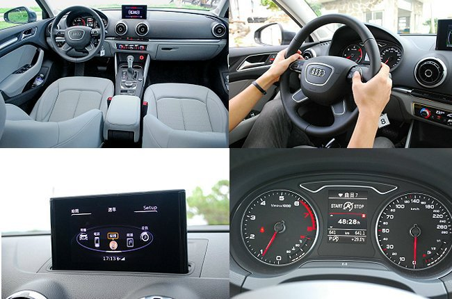內裝完全德系車一貫的冷靜調性,座椅也強調包覆與支撐性,並有多功能方向盤。 記者趙惠群/攝影