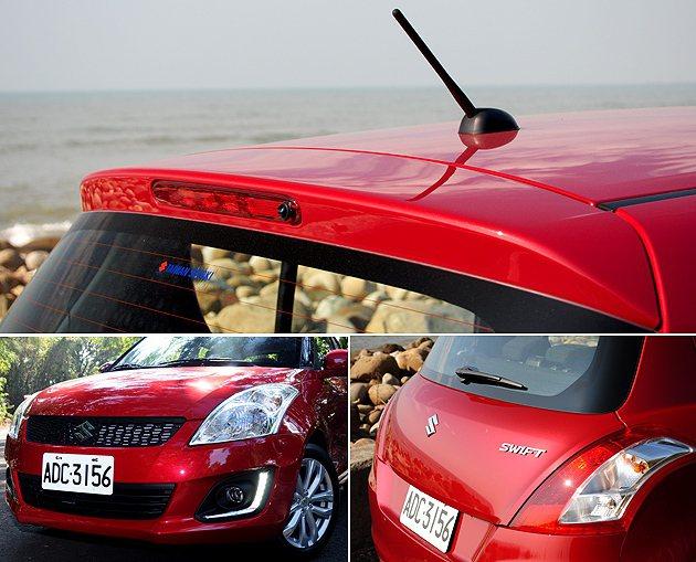 車頭新增LED日間行燈,車尾也導入了LED第三煞車燈。 蔡志宇