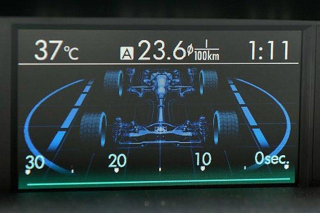 全彩中控顯示幕顯示行車資訊。 記者趙惠群/攝影