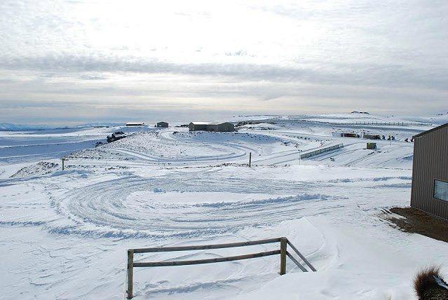 訓練基地位於Pisa山脈上的Snow Farm越野滑雪場中。 記者趙惠群/攝影