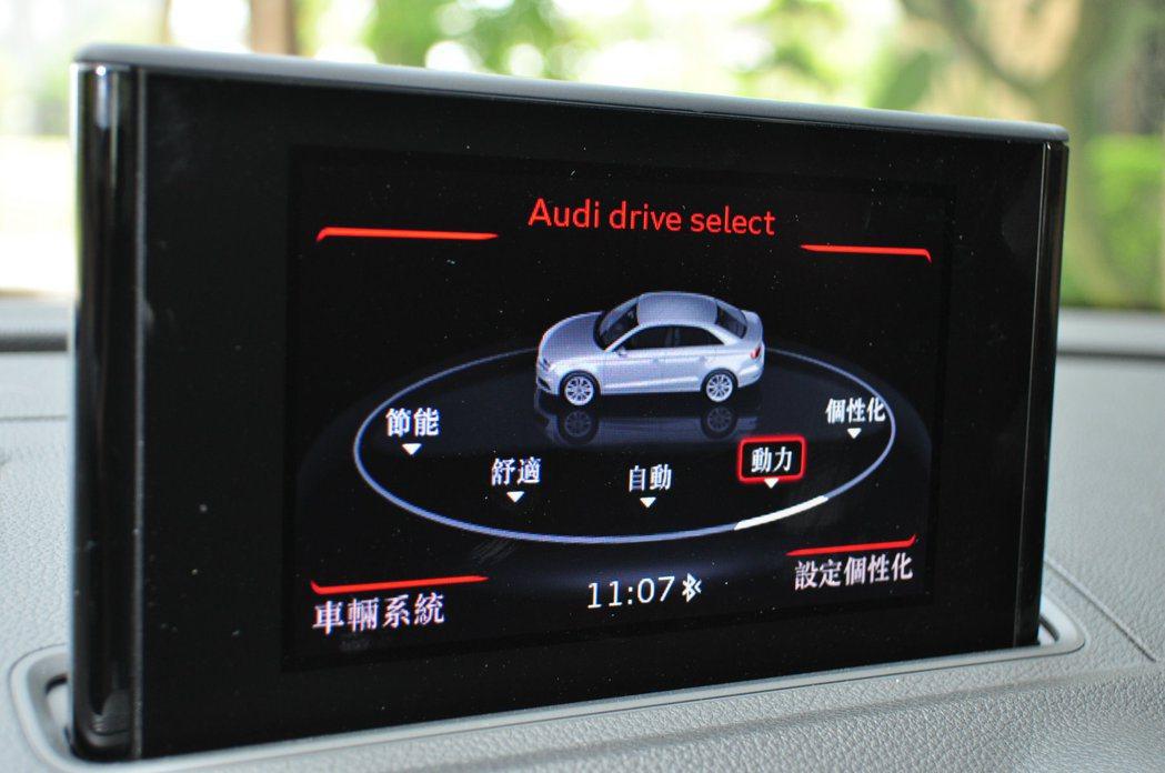 Drive Select可程式車身動態系統提供五種行車動態模式選擇,是全新S3 ...