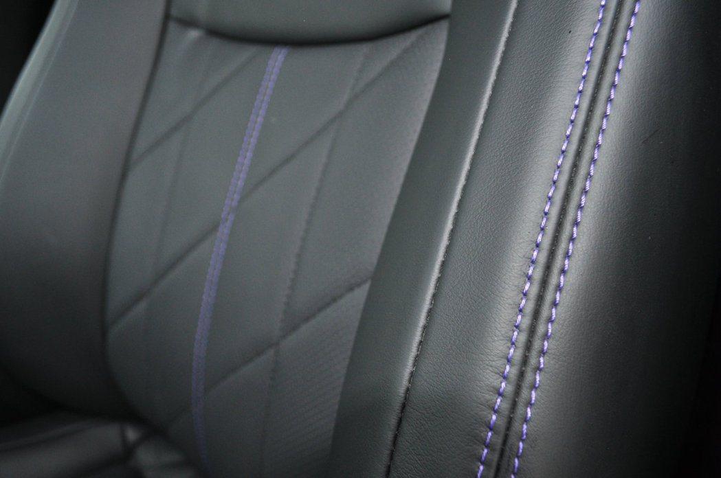 紫色縫線更加與眾不同。 記者許信文/攝影