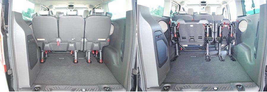 三排座椅原廠號稱有可擁有30種座椅變化組合,也增添它的機能性。 記者趙惠群/攝影