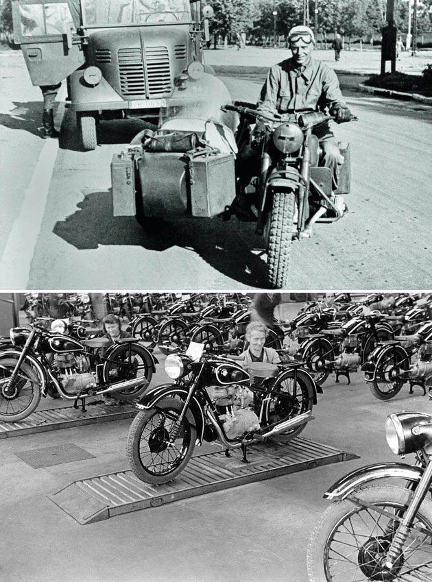 1942年Alexander_von_Falkenhausen_騎R75。 BMW