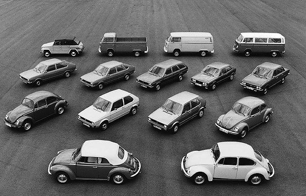 1974年由Type 1衍生出來的福斯全車系。 Volkswagen