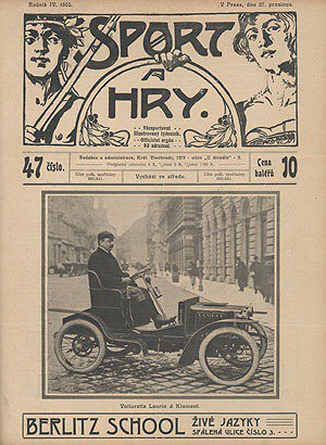 1905年12月27日當地一本周刊Sport_and_Game封面刊載了Type_A Skoda