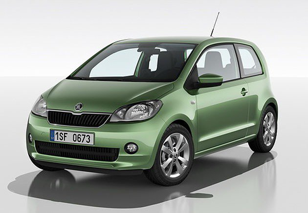 2012年的Citigo節能小車。 Skoda