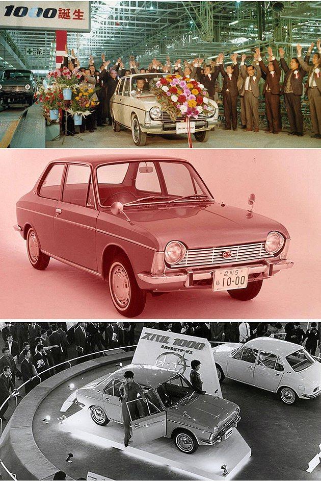 1965年上市的Subaru 1000。 Subaru