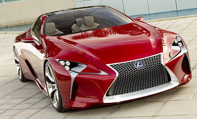 Lexus近年著力於新的油電動力技術開發,圖中的LFLC_Concept概念跑車...