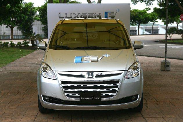 首部納智捷電動車Luxgen EV在三義廠區正式展示。 Luxgen