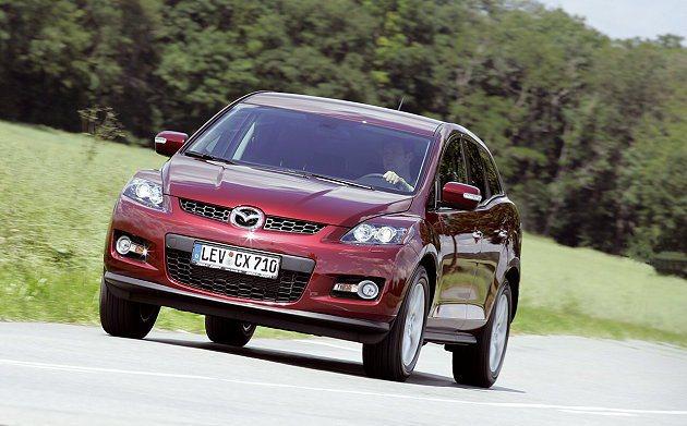 2007年推出五人座中型跨界休旅車Mazda CX7。 Mazda
