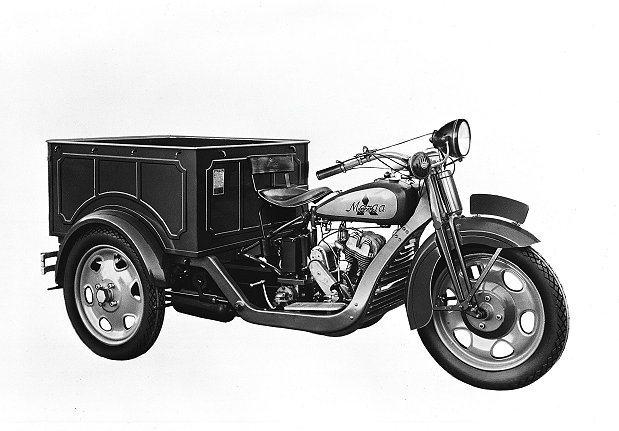 Mazda最早靠著三輪貨車起家;圖為1931年的產品。 Mazda