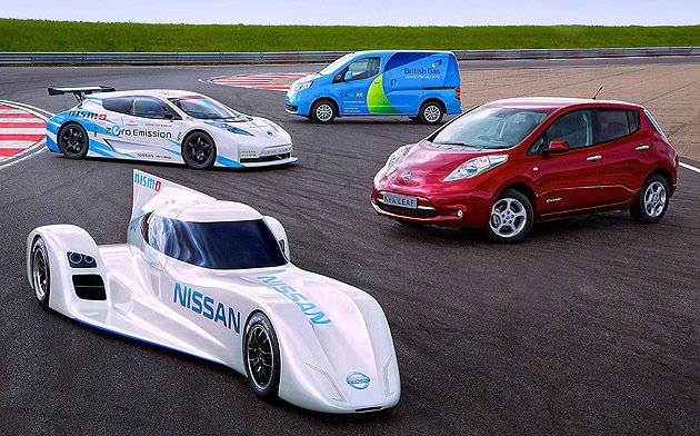 Nissan的電動車家族。 Nissan