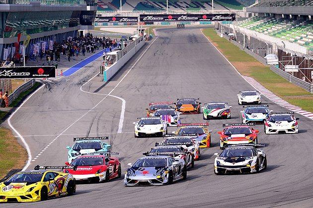 2013 Lamborghini Blancpain Super Trofeo亞洲挑戰賽韓國站將登場;圖為馬來西亞雪邦站。 Lamborghini提供