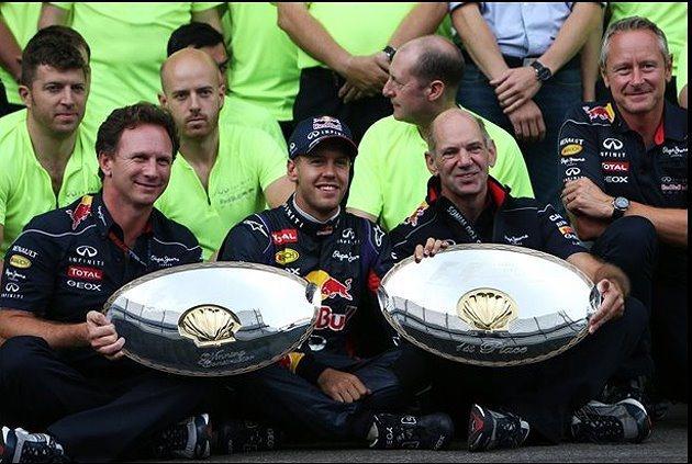 比利時站後,Vettel(中)的積分上升到197分。 F1提供