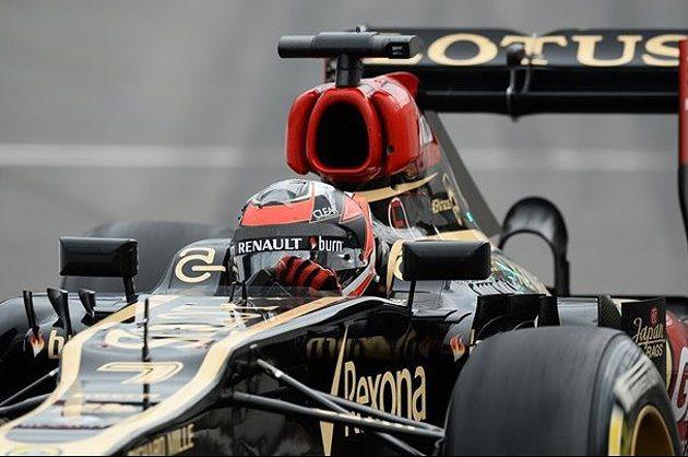 Kimi因車子煞車出現問題而退賽。 F1提供