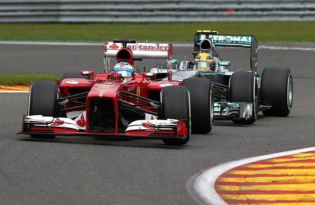 Ferrari的車子有明顯變快的趨勢。 F1提供
