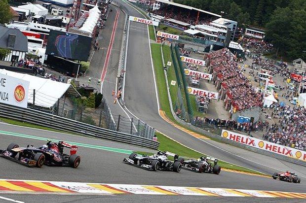 比利時站Spa-Francorchamps賽道。 F1提供