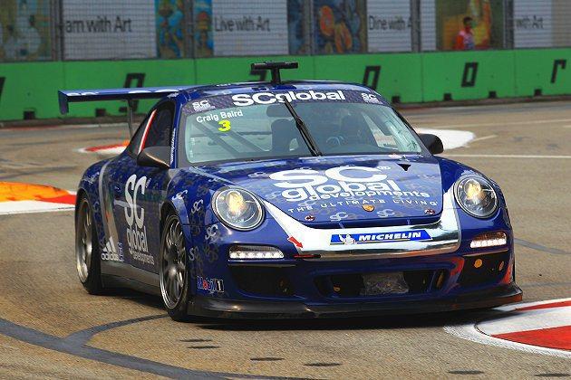 新加坡站冠軍的一大熱門是代表SC Global Racing比賽的紐西蘭車手巴特(Craig Baid)。 Porsche提供