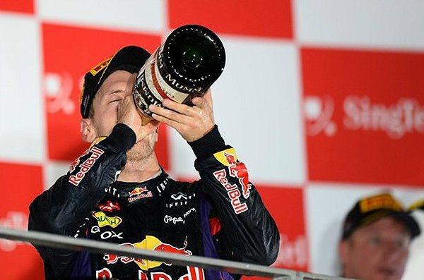 Vettel的積分領先其他車手甚多。 F1提供