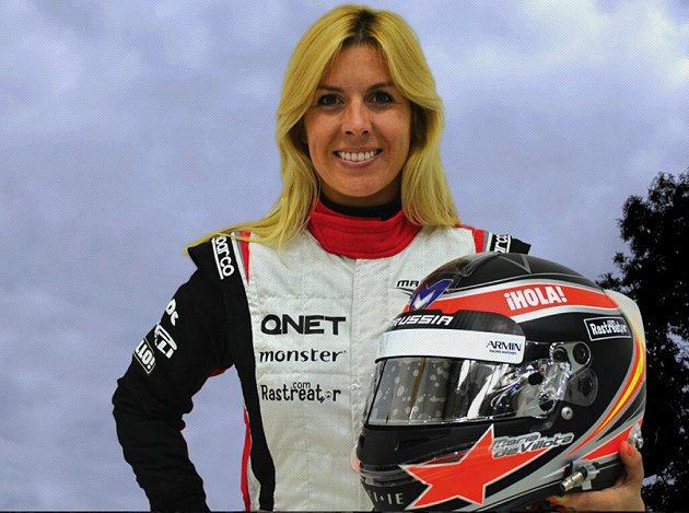 出身賽車世家的Maria de Villota熱愛賽車運動。 Marussia F1 Team提供