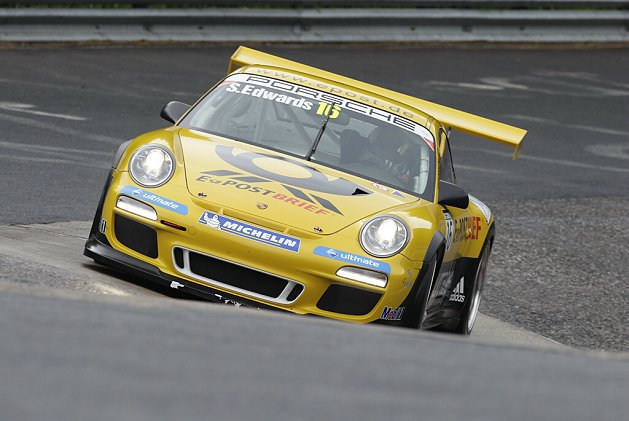 Sean Edwards在Porsche Carrera Cup賽事馳騁的英姿。 Porsche Motorsport提供