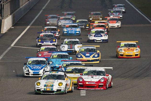 2013亞洲保時捷卡雷拉盃最後一場比賽,車手們競爭激烈。 亞洲保時捷卡雷拉盃提供