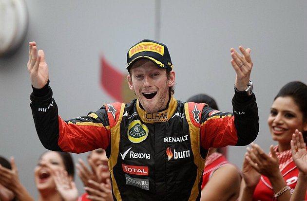 Lotus車隊Romain Grosjean雖然從第17位起跑,仍拿下季軍。 F1提供